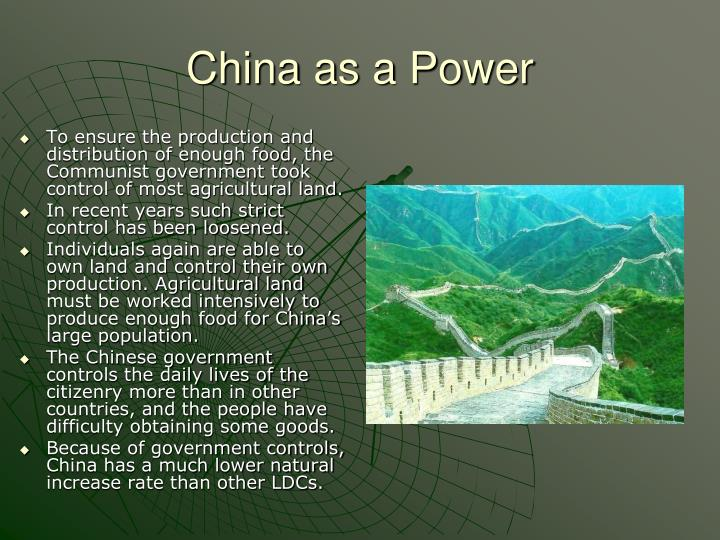 China as a Power