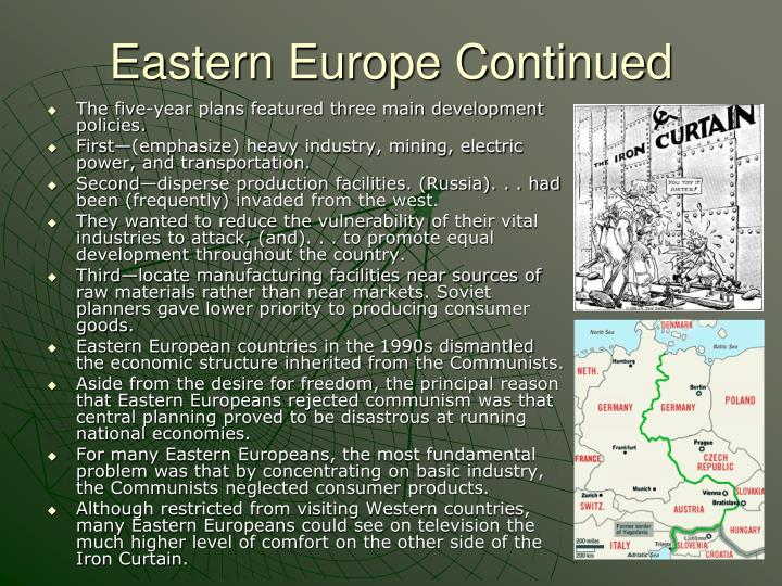 Eastern Europe Continued