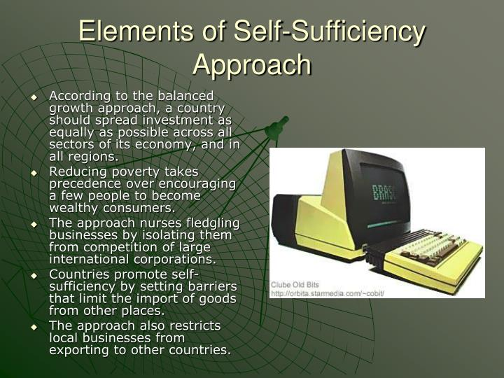Elements of Self-Sufficiency Approach