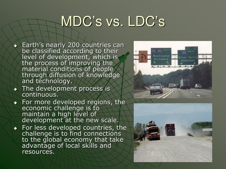 MDC's vs. LDC's