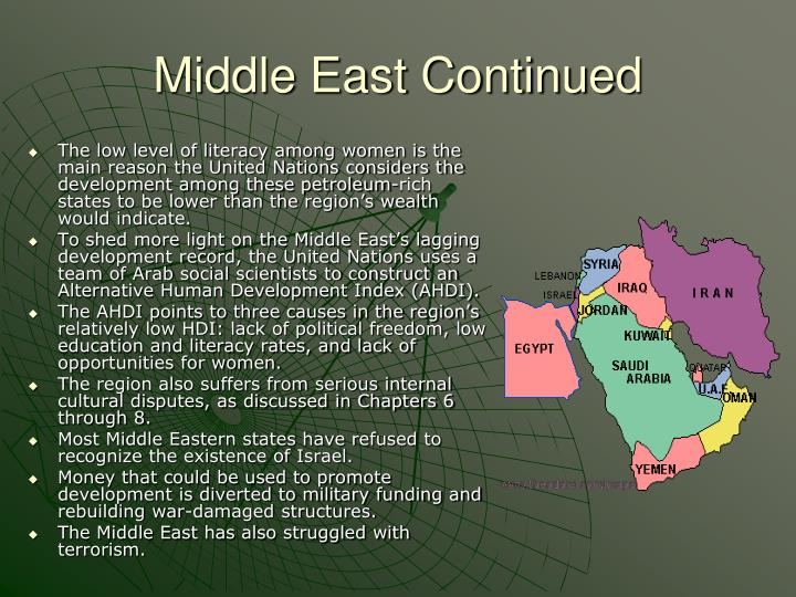 Middle East Continued