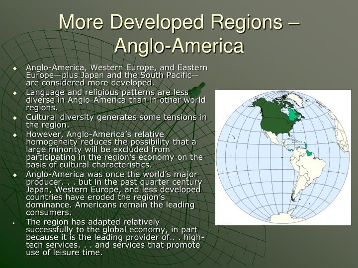 More Developed Regions –