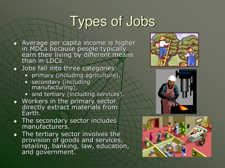Types of Jobs