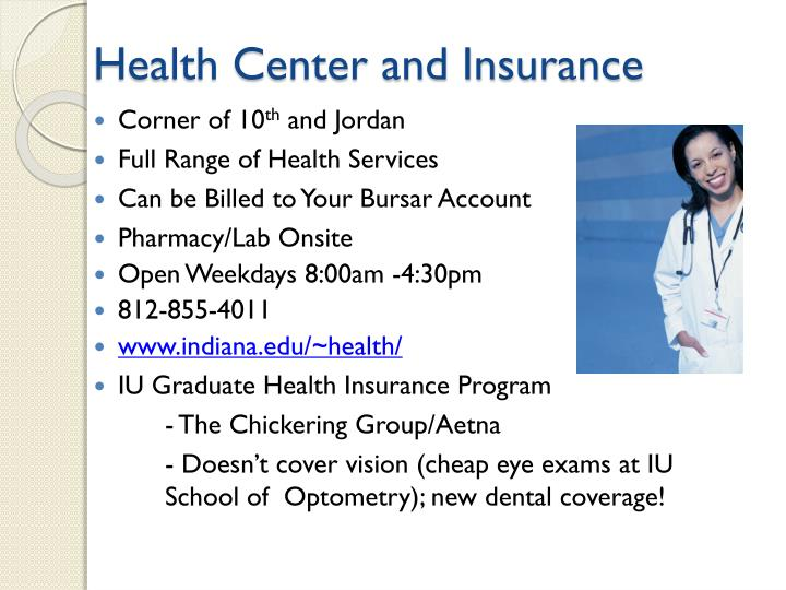 Health Center and Insurance