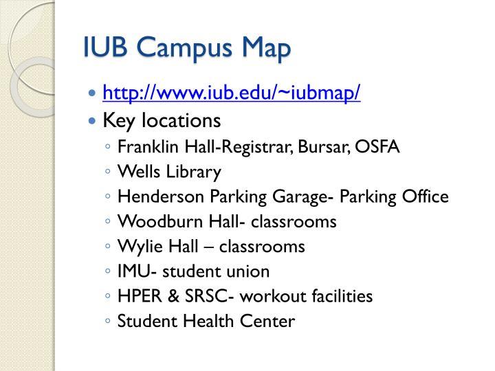IUB Campus Map