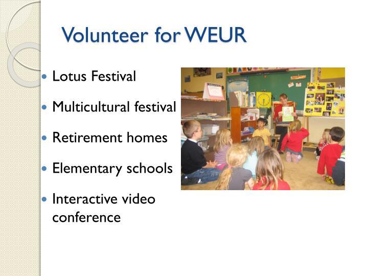 Volunteer for