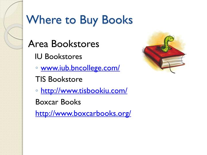 Where to Buy Books