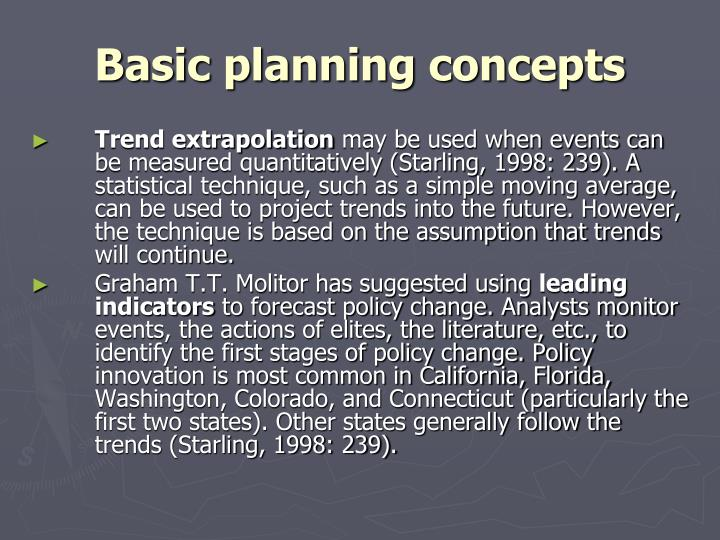 Basic planning concepts