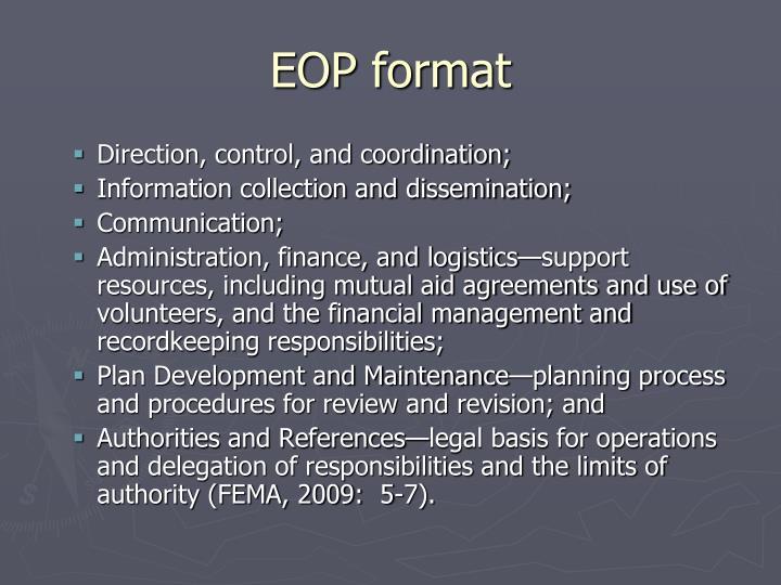 EOP format
