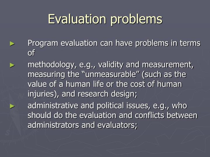 Evaluation problems