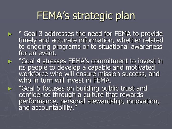 FEMA's strategic plan