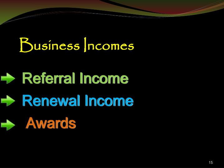 Business Incomes