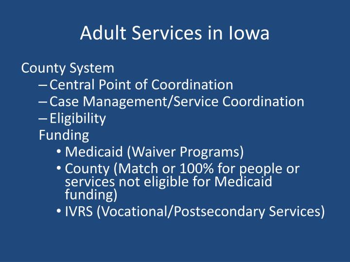 Adult Services in Iowa
