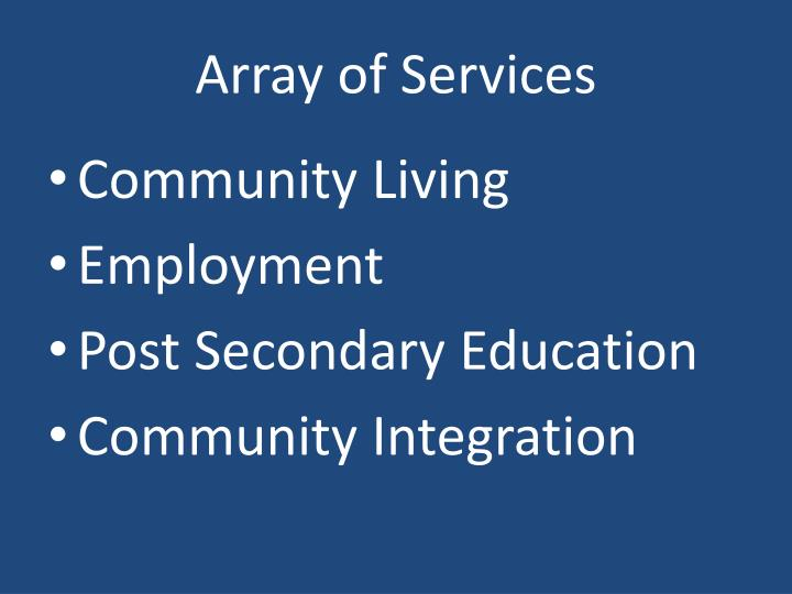 Array of Services