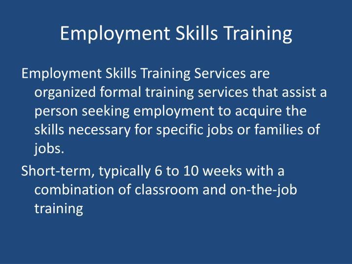 Employment Skills Training