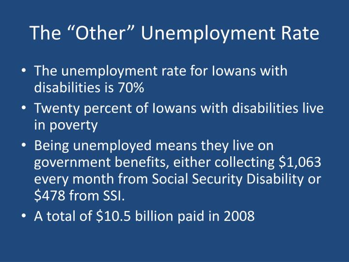 """The """"Other"""" Unemployment Rate"""
