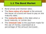 1 1 the bond market