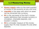 1 3 measuring money