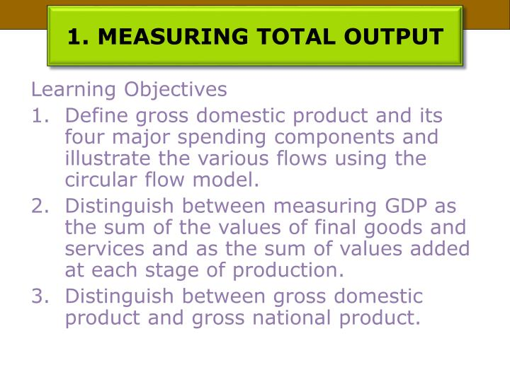 1 measuring total output