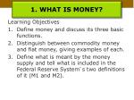 1 what is money