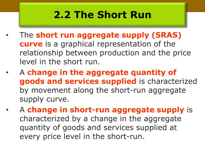 2.2 The Short Run