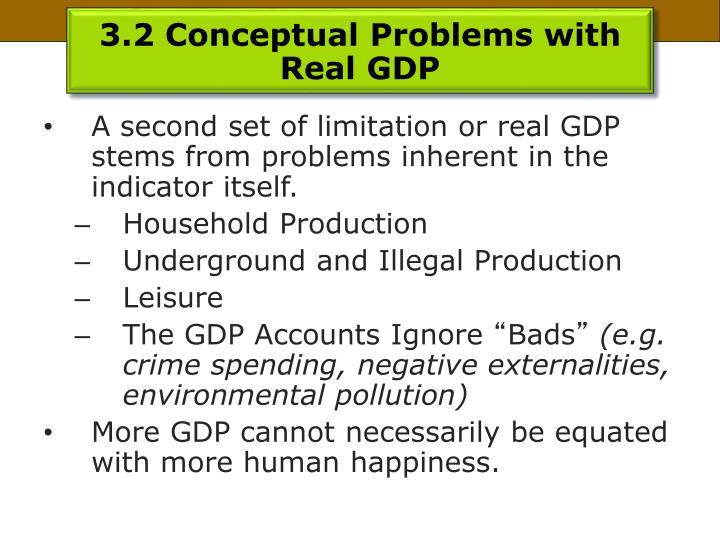 3.2 Conceptual Problems with Real GDP