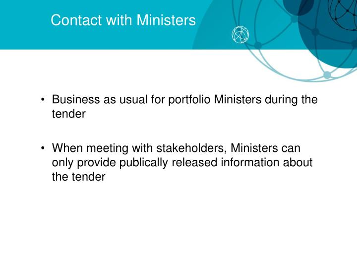 Contact with Ministers
