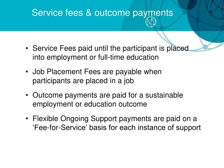 Service fees & outcome payments