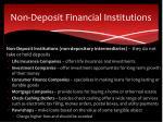 non deposit financial institutions
