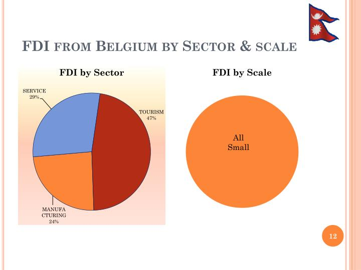 FDI from Belgium by Sector & scale