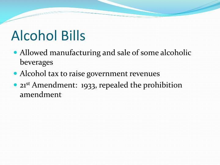 Alcohol Bills