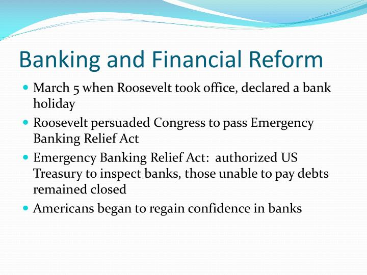 Banking and Financial Reform