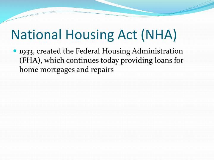 National Housing Act (NHA)