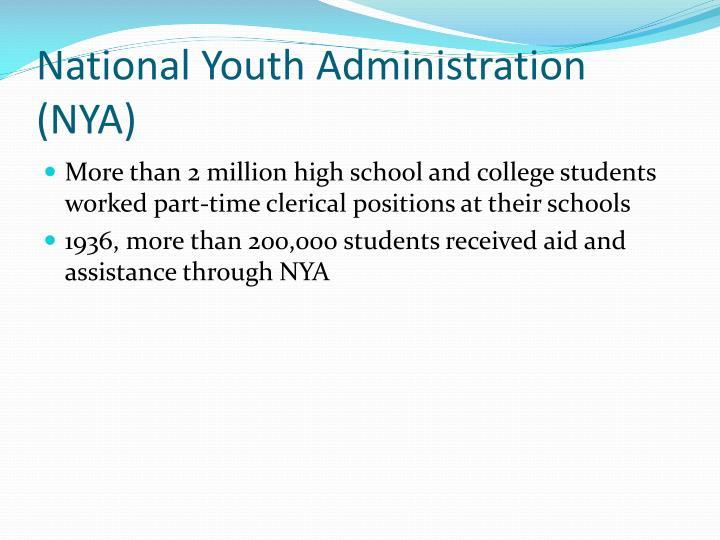 National Youth Administration (NYA)