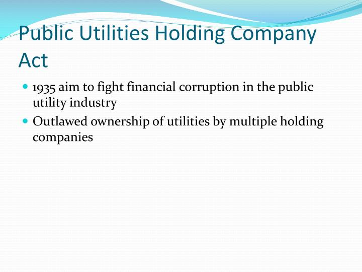 Public Utilities Holding Company Act