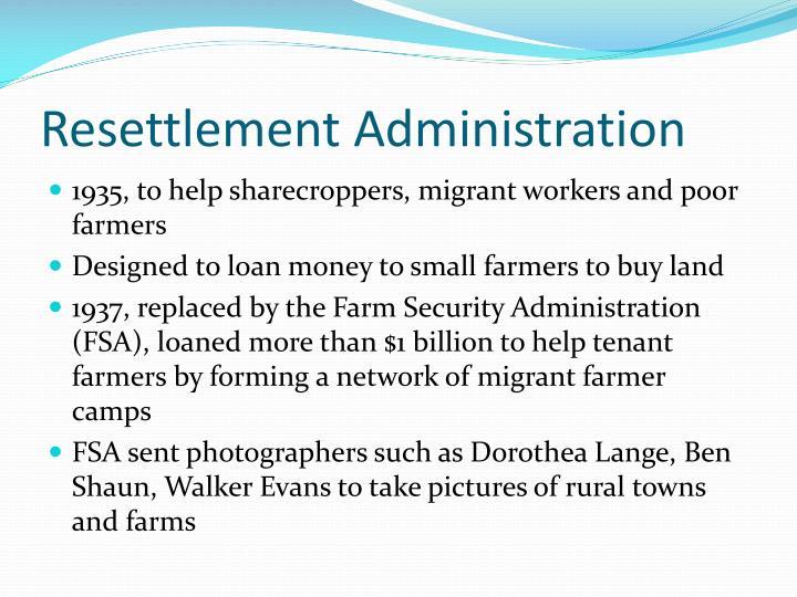 Resettlement Administration