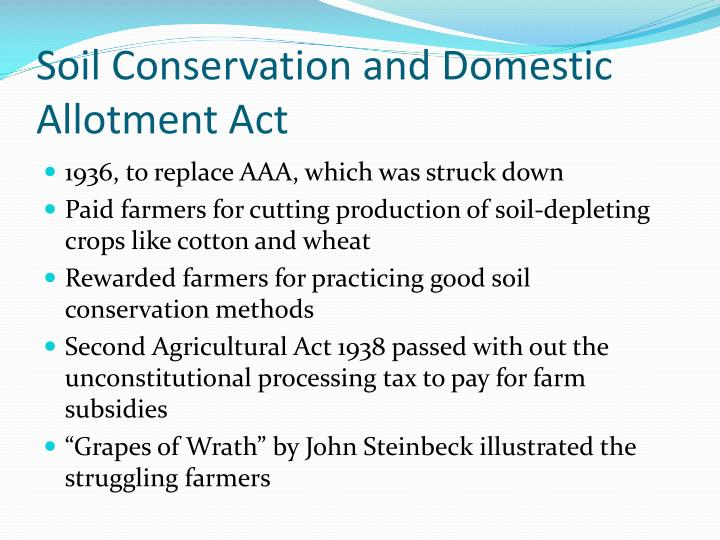 Soil Conservation and Domestic Allotment Act