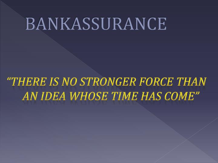 BANKASSURANCE