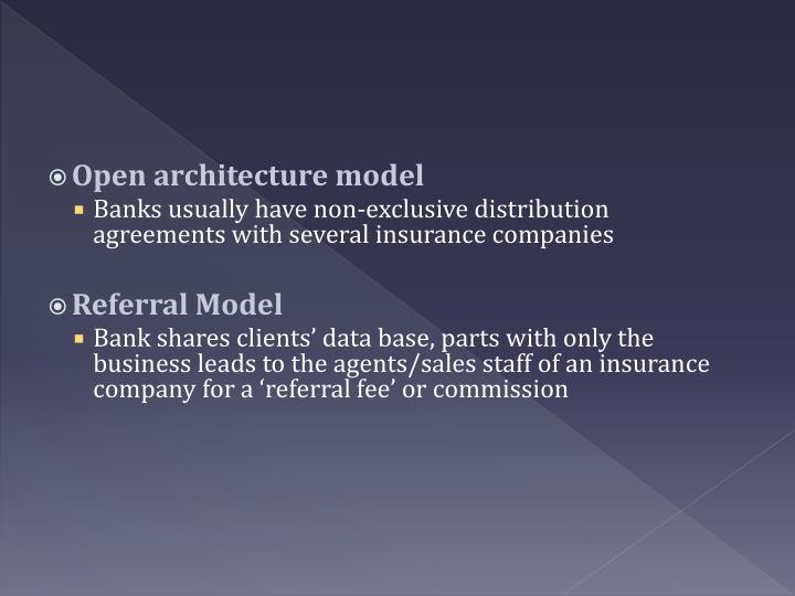 Open architecture model