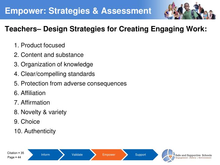 Teachers– Design Strategies for Creating Engaging Work: