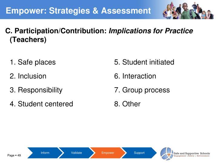 C. Participation/Contribution: