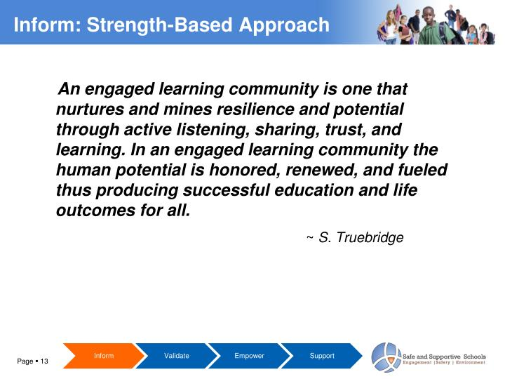An engaged learning community is one