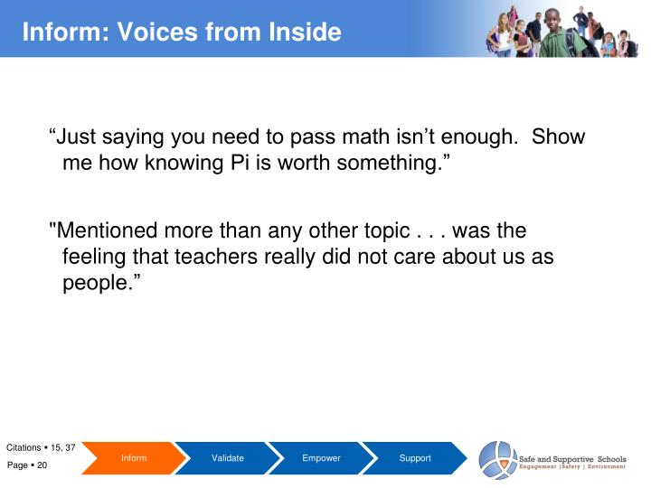 """Just saying you need to pass math isn't enough.  Show me how knowing Pi is worth something."""