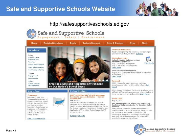 Safe and Supportive Schools Website