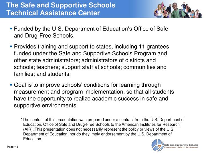 The Safe and Supportive Schools