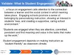 validate what is student engagement