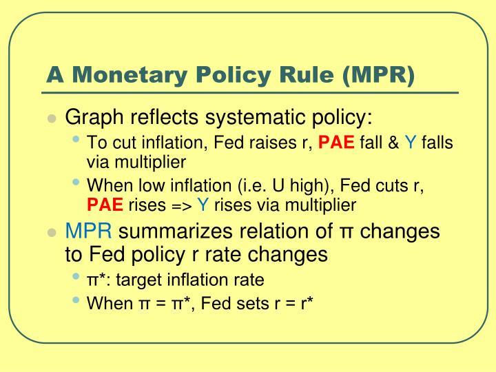A Monetary Policy