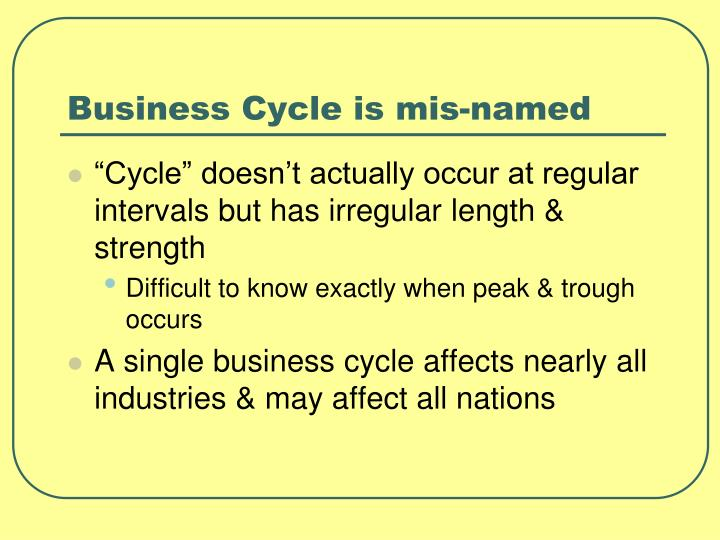 Business Cycle is mis-named