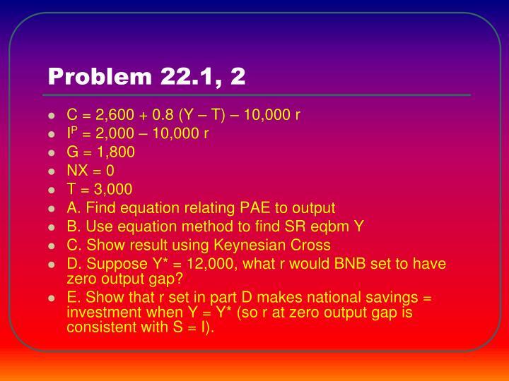 Problem 22.1, 2