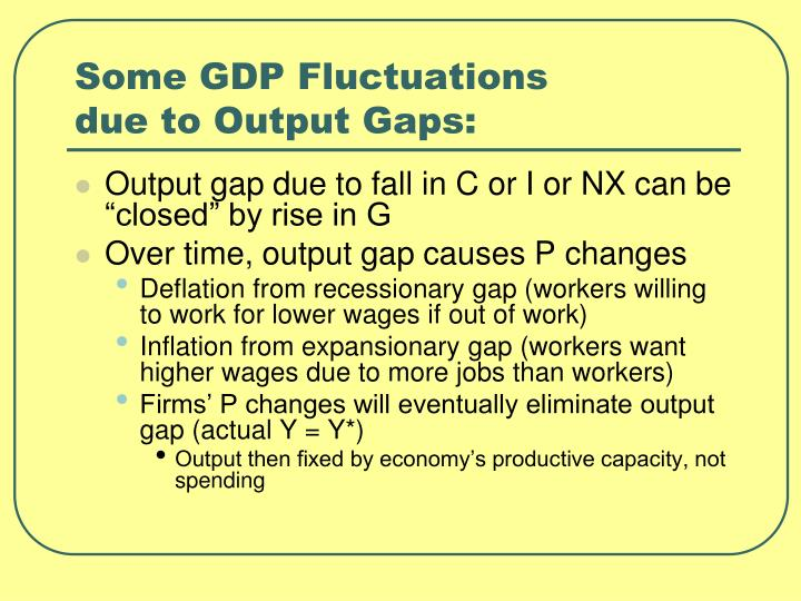 Some GDP Fluctuations